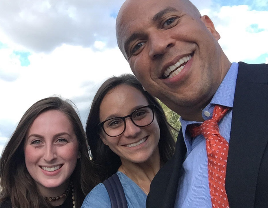 NWHN Interns with Sen. Cory Booker